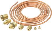 Gauge Line Kit - 1/8 in OD - 6 ft Long - Fittings Included - Copper - Mechanical Pressure Gauges - Kit