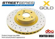 DBA STREET SERIES BRAKE ROTOR X-GOLD CROSS-DRILLED & SLOTTED - FRONT