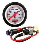 Gauge - Water Pressure - 0-35 psi - Mechanical - Analog - 2-1/16 in Diameter - White Face - Warning Light - Kit