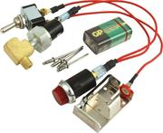 Warning Light - Oil Pressure - 20 psi - 1/8 in NPT Male Thread - Battery/Fitting/Light/Sender Switch//Wiring - Red - Sprint Car - Kit
