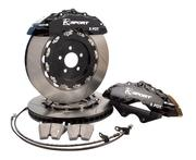 KSport® New Super 8 pot 4 pad calipers with fully floating rotors