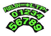 B-G Racing - Large Green Pit Board Number Set