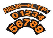 B-G Racing - Large Orange Pit Board Number Set