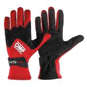 Driver Gloves OMP Karting KS-4 Red