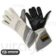RRS Virage2 FIA Racing Gloves - White Logo Grey