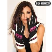 RRS Virage2 FIA Racing Gloves - Black Logo Pink