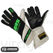 RRS Virage2 Fia Racing Gloves - Black Logo Green