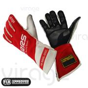 RRS Virage2 Fia Racing Gloves - Black Logo White