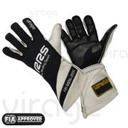 Racing Gloves RRS Virage2 FIA - Black Logo White