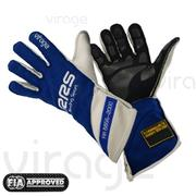 Driver Gloves FIA RRS Virage 2 (External Seams) Blue / White