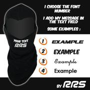 Customised RRS FIA Flex Black Balaclava