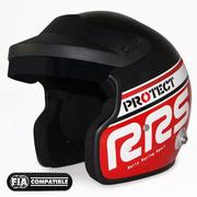 RRS Protect FIA SNELL SA2010 Red Jet Helmet