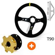 Rally Driving Pack RRS Belling 90mm + 3 Branches Retractable Steering Wheel Hub