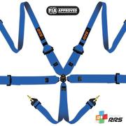 "RRS FIA 3"" 2"" Pro 6 Hans Blue Harnesses 2015 Logos Orange"