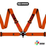 RRS FIA EVO 4 2016 Orange Harnesses (4pts) / Red Logos