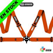 RRS FIA EVO 4 2016 Orange Harnesses (4pts) / White Logos