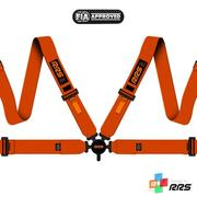 RRS FIA EVO 4 2016 Orange Harnesses (4pts) / Orange Logos