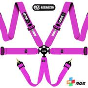 RRS FIA EVO 6 2015 Pink harnesses (6pts) / White logos
