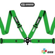 RRS FIA EVO 4 2016 Green harnesses (4pts) / White logo