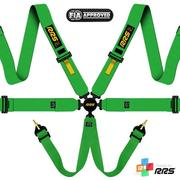 RRS FIA EVO 6 2016 Green harnesses (6pts) / Yellow logos