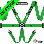 RRS FIA EVO 6 2016 Green harnesses (6pts) / White logos