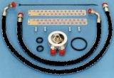 BMC Healey 100-6/3000 Oil Cooler Installation Kit with Standard Black Hose