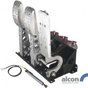 Floor Mount Bulkhead Fit DBW Accelerator Pedal Box With Alcon Master Cylinders