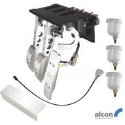 Top Mount Bulkhead Fit Hydraulic Clutch Pedal Box With Alcon Master Cylinders