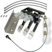 Classic Mini Pedal Box Hydraulic Clutch with 3x Reservoirs, 3x Feed Hoses & Bias Adjuster