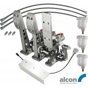 Floor Mount V3 Billet Aluminium Bulkhead Fit Hydraulic Clutch Pedal Box With Alcon Master Cylinders