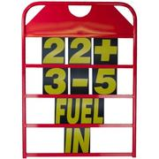 Obp Alloy Medium Red Powder Coat Size Pit Board & Numbers