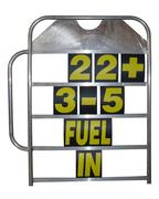 Obp Alloy Medium Size Pit Board with Handle & Numbers