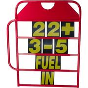 Obp Alloy Medium Size Red Powder Coated Pit Board w/ Handle & Numbers