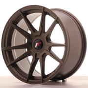Japan Racing JR21 17x9 ET25-35 Custom Matt Bronze
