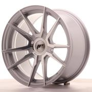 Japan Racing JR21 17x9 ET25-35 Custom Silver Machined