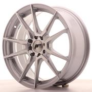Japan Racing JR21 17x7 ET25 4x100/108 Silver Machined