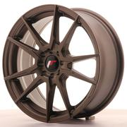Japan Racing JR21 17x7 ET40 4x100/114 Matt Bronze