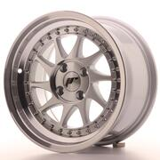 Japan Racing JR26 15x8 ET5 4x100 Machined Silver