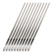 DEI Stainless-Steel Positive 12mm x 20in Locking Ties 10-Pack