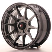 Japan Racing JR11 15x7 ET30 4H Custom Dark Hiper Black