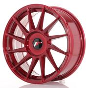 Japan Racing JR22 17x7 ET35-40 Custom Platinum Red