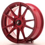 Japan Racing JR21 17x7 ET25-40 Custom Platinium Red