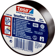Tesa PVC El/Isoleringstape Sort
