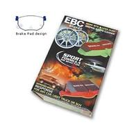 EBC Yellowstuff Aramid Brake Pads, rear.