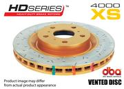 DBA HD SERIES BRAKE ROTOR 4000 XS CROSS-DRILLED & SLOTTED - REAR