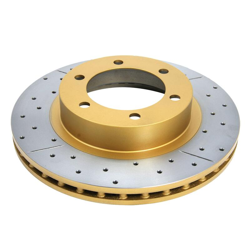 Dba Street Series Brake Rotor X Gold Cross Drilled