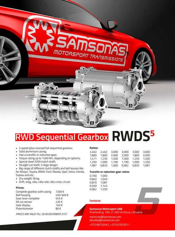 Universal RWDS Sequential Gearbox - 5 speed