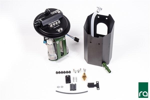 fuel pump hanger, 2011+ ford mustang, dual pumps included, aem 50-1000 gas  with diy wiring kit