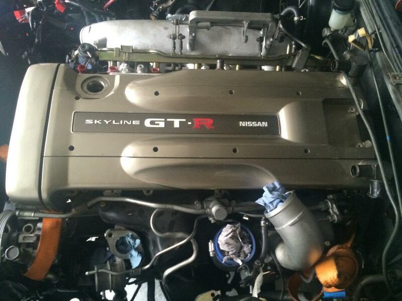 Nissan Oem Bnr34 Rb26dett Rocker Cover Plate Nur Rb26 Wiring Harness