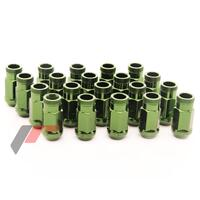 Forged Steel Japan Racing Nuts 12x1,5 45mm GREEN